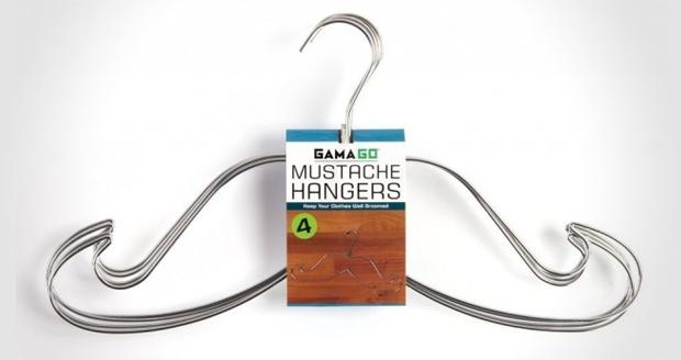 Mustache Cloth Hangers
