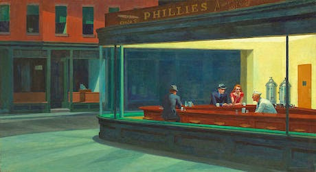 Art Talk - foredrag om kunst. Edward Hopper: Nighthawks, 1942