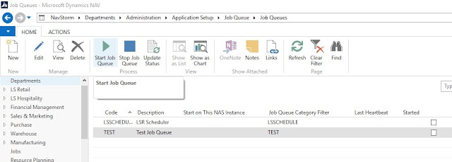 start job queue manually in microsoft dynamics nav 2013 r2
