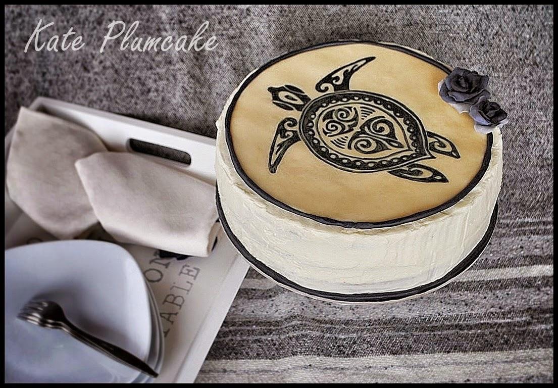 cake painting su cioccolato plastico: tattoo cake