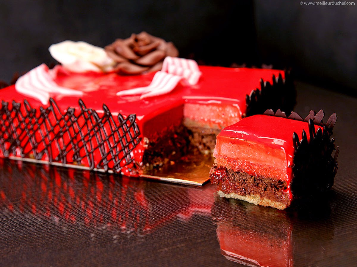 Les papilles qui fr tillent entremet chocolat framboise - Gateau d anniversaire original pour adulte ...