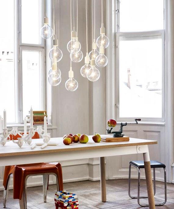 lâmpada sem lustre - fio e bocal colorido - faça você mesmo - ideia de iluminação