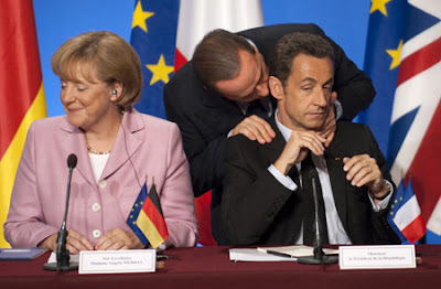 Angela Merkel, Nicolas Sarkozy and a funny Silvio Berlusconi
