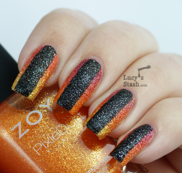 Lucy's Stash - Nail Art with Zoya PixieDust Summer polishes