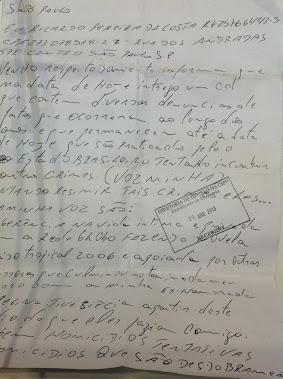 Entreguei um CD no Forúm Criminal da Barra Funda com todo o conteúdo do blog