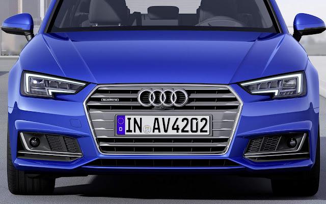 novo Audi A4 2016 - grade dianteira