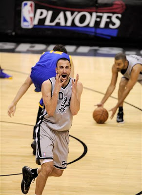 Ginobili yelling