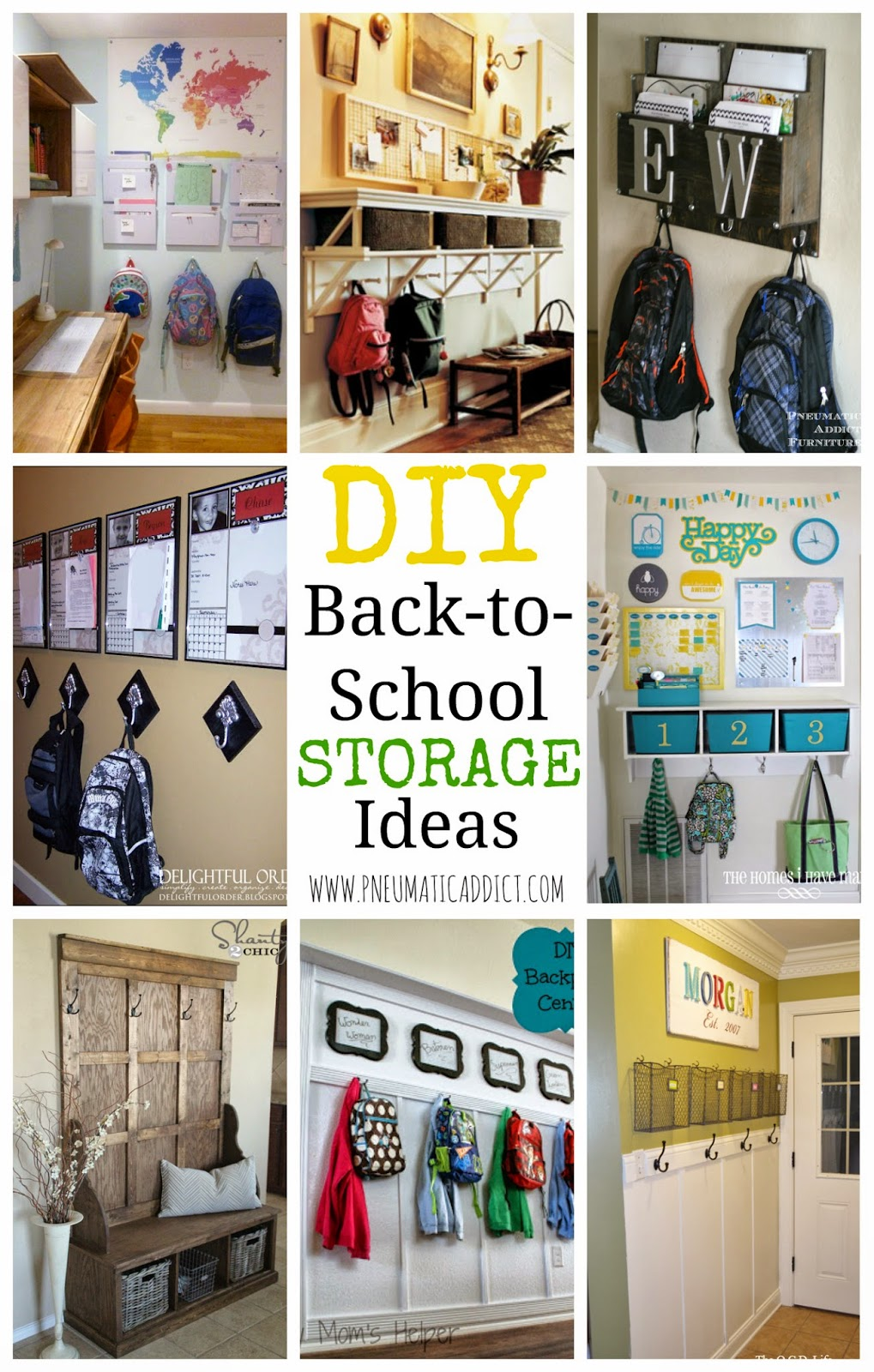 Superbe I Shared A Tutorial To Build Your Own Homework And Backpack Center With You  Last Week, And Now Iu0027m Sharing Some Other DIY Back To School Storage ...