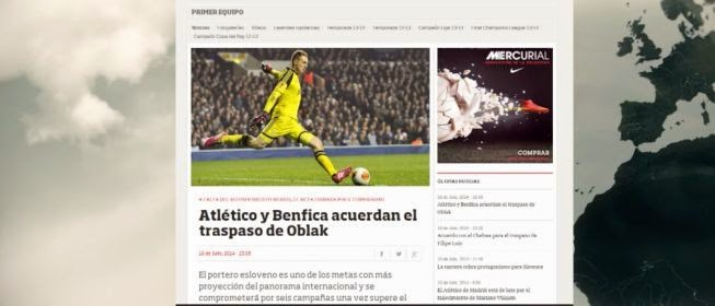 Oblak to At Madrid 2014