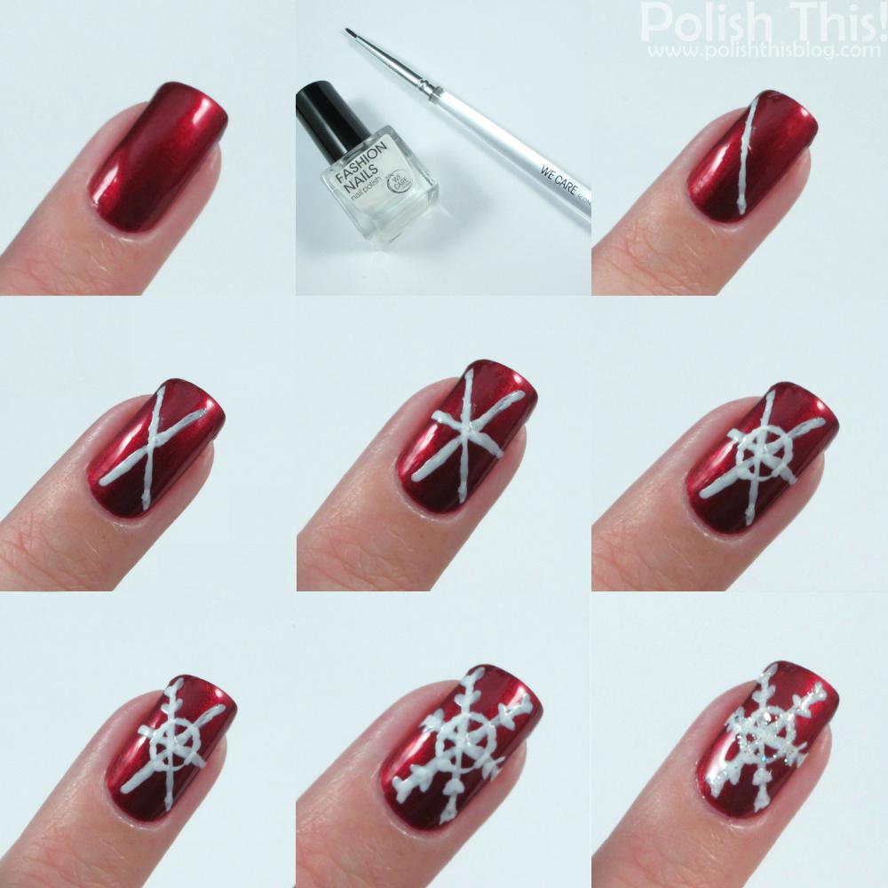 Snowflake Nail Art Tutorial: Quick Snowflake Nail Art Tutorial
