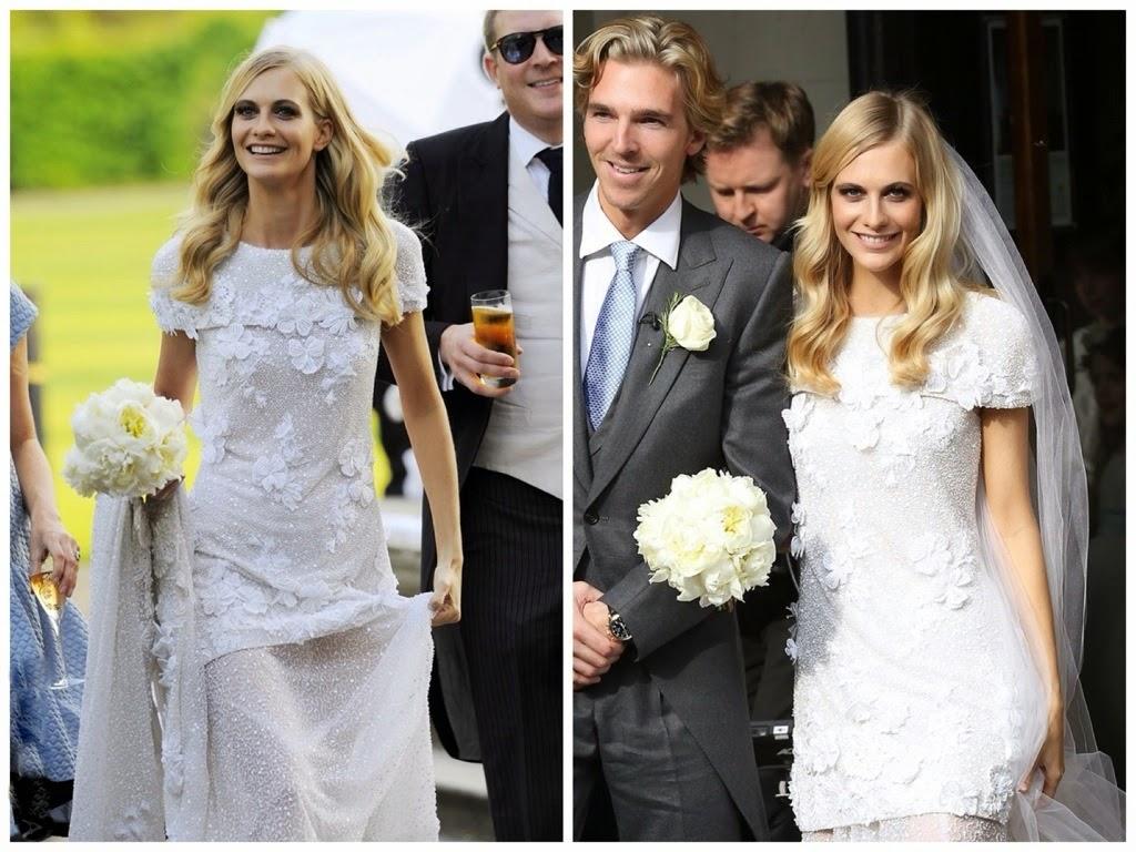 abiti da sposa vip, abito sposa poppy delevingne, chanel