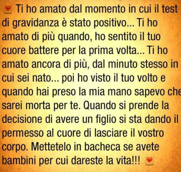 Favoloso Frasi Amore Di Mamma RJ29 » Regardsdefemmes LL61