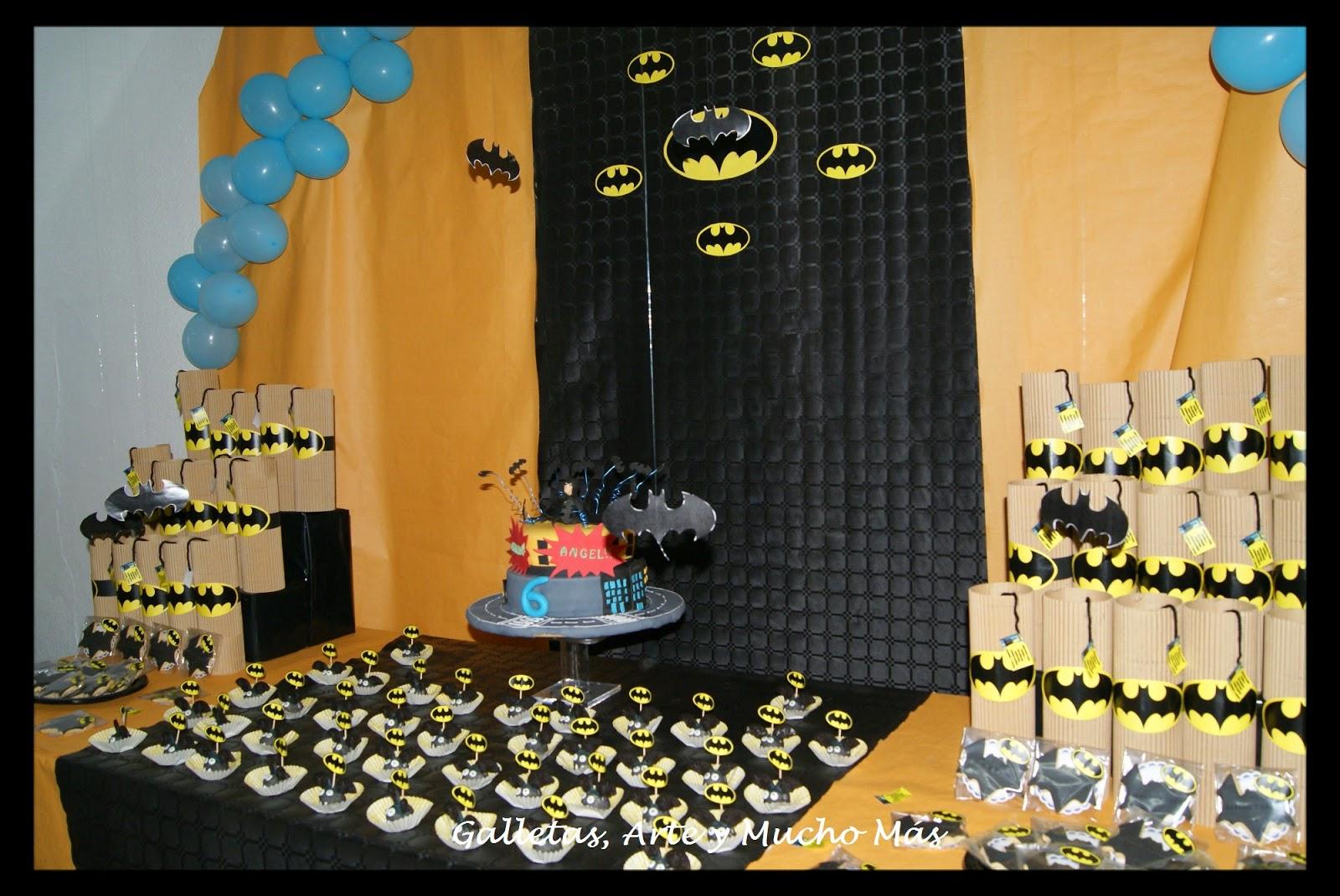 Cumpleanos De Batman Gabriel Y Angel Galletas Arte Y Mucho Mas