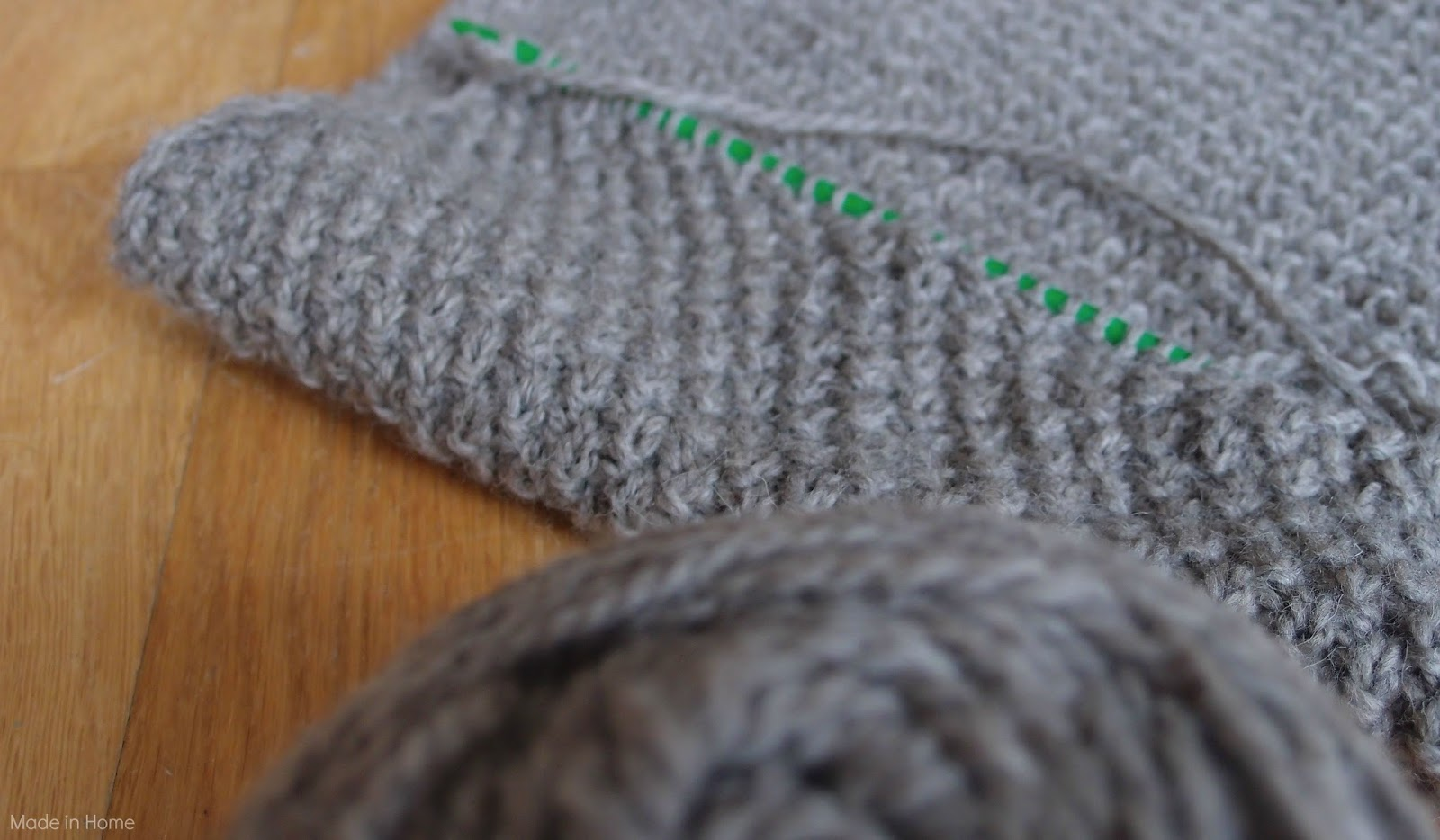 Double Moss Stitch Knitting In The Round : Made in home double moss stitch wip knitting