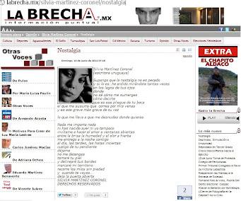 Mi poema NOSTALGIA, publicado por el periódico LA BRECHA