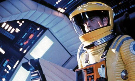 An astronaut in 2001: A Space Odyssey movieloversreviews.blogspot.com
