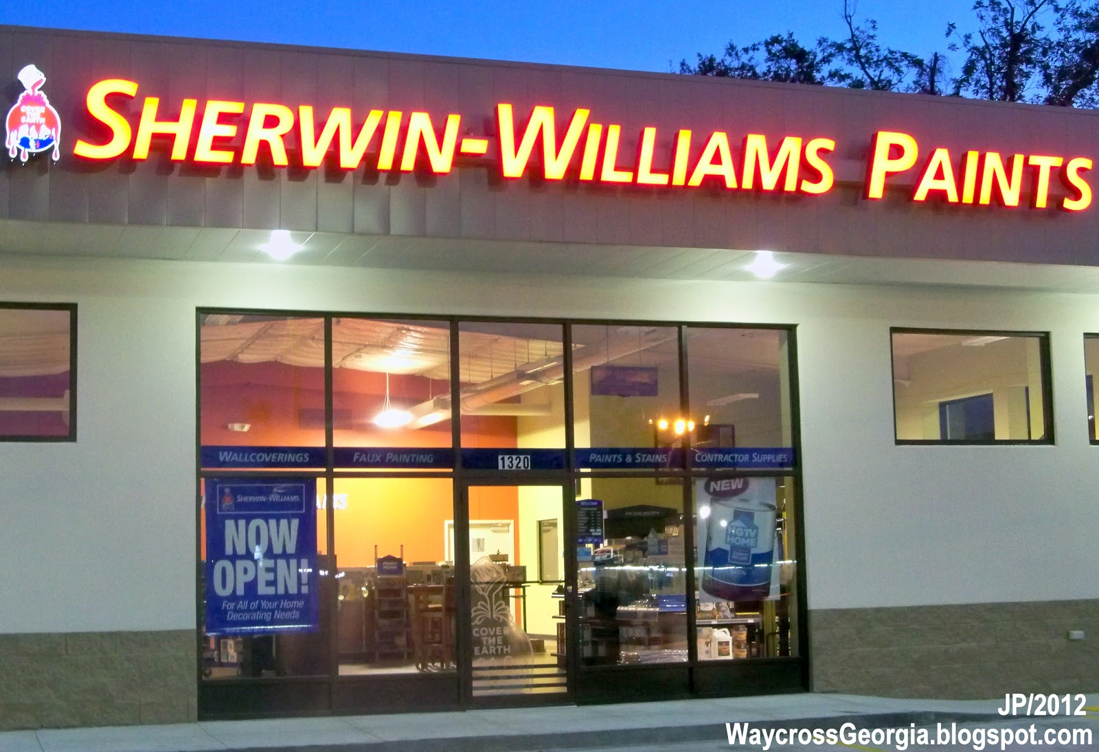 Waycross georgia ware cty college restaurant bank hotel for Sherwin and williams paint