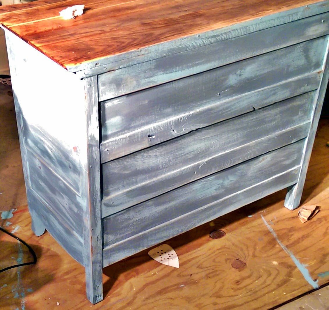 distressing wood with paint