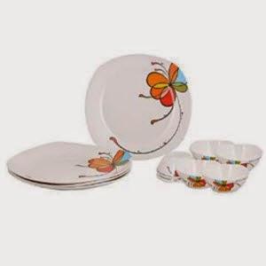 Amazon: Buy Borosil Neuvo Vibgyor Dinner Set, 12-Pieces at Rs.380