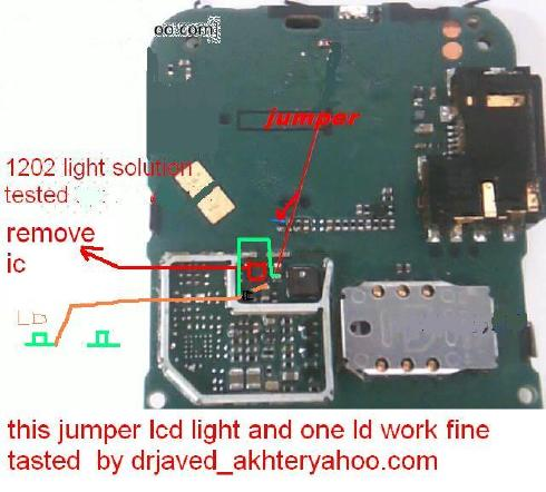 Nokia 1202 Light Problem http://gsmcomilla.blogspot.com/2012/01/1202-light-solution.html