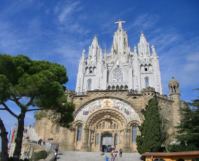 Sagrat Cor church on the top of Tibidabo hill