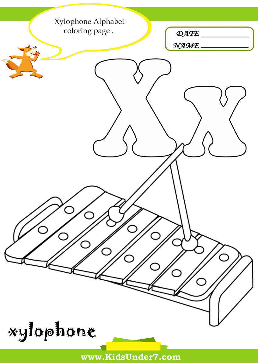 Kids Under 7: Letter X Worksheets and Coloring Pages