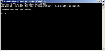 membersihkan Virus Shortcut di cmd