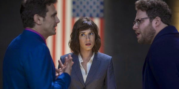 James Franco, Lizzy Caplan e Seth Rogen em A ENTREVISTA (The Interview)