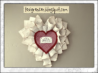 Vintage Paper Heart Wreath