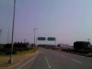 Chennai Bangalore highway Krishnagiri to Vaniyambadi