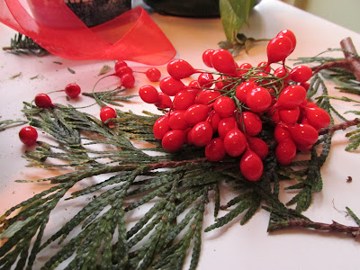 Red berries for a kissing ball