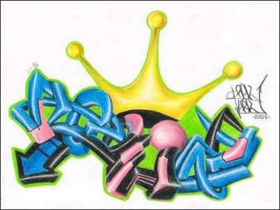 How To Draw A Cool Colorful Graffiti 3D