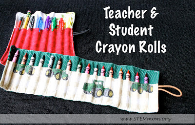Teacher and Student Crayon Roll: A Great Teacher Gift from STEMmom.org