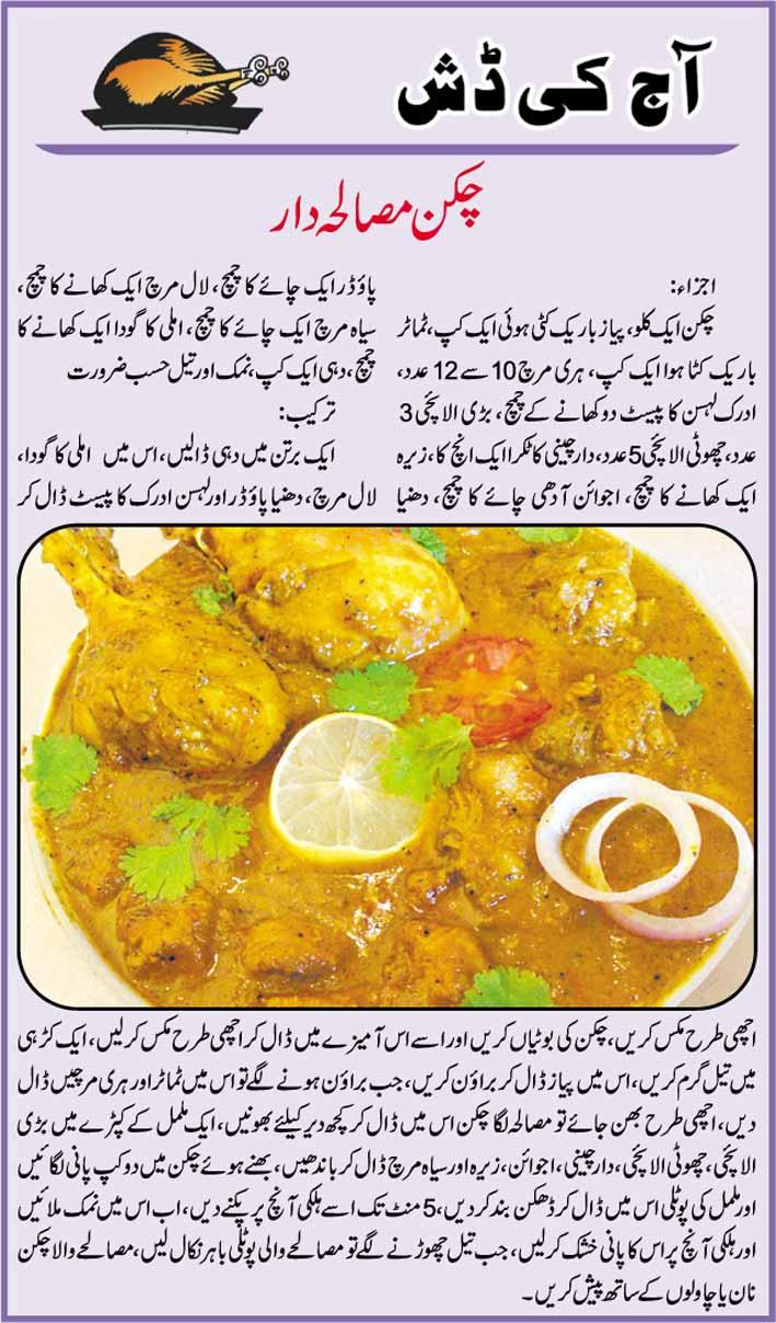 Chicken Masala Dar Recipe In Urdu