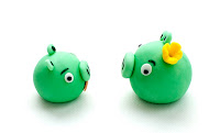 Pigs Queen Red Angry birds iz tičino mase - Angry birds fondant