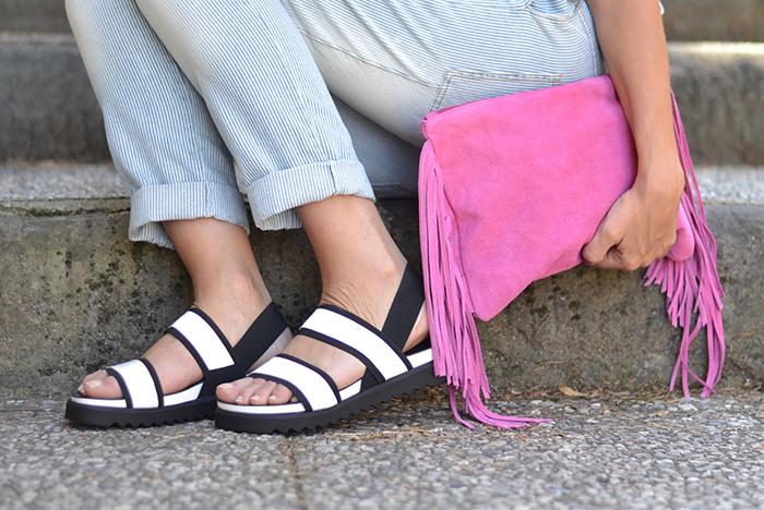 sandali bianco nero rapisardi