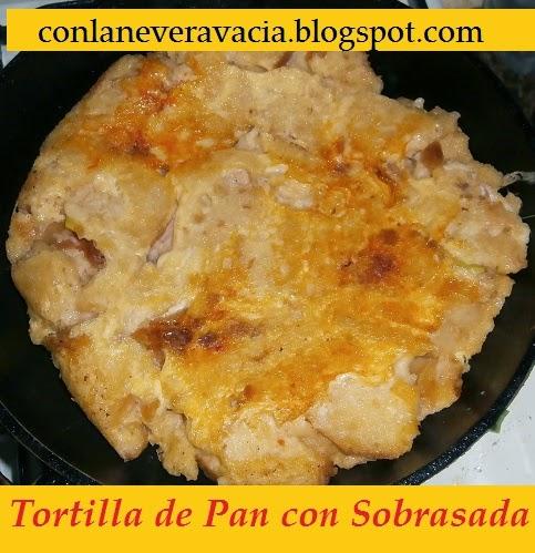 Tortilla De Pan Con Sobrasada