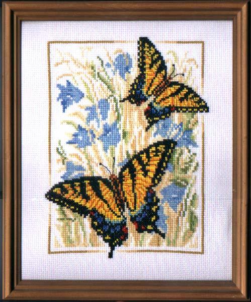 Вышивка крестом схемы бабочка махаон