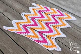 Oh Snap Chevron Afghan Crochet Pattern