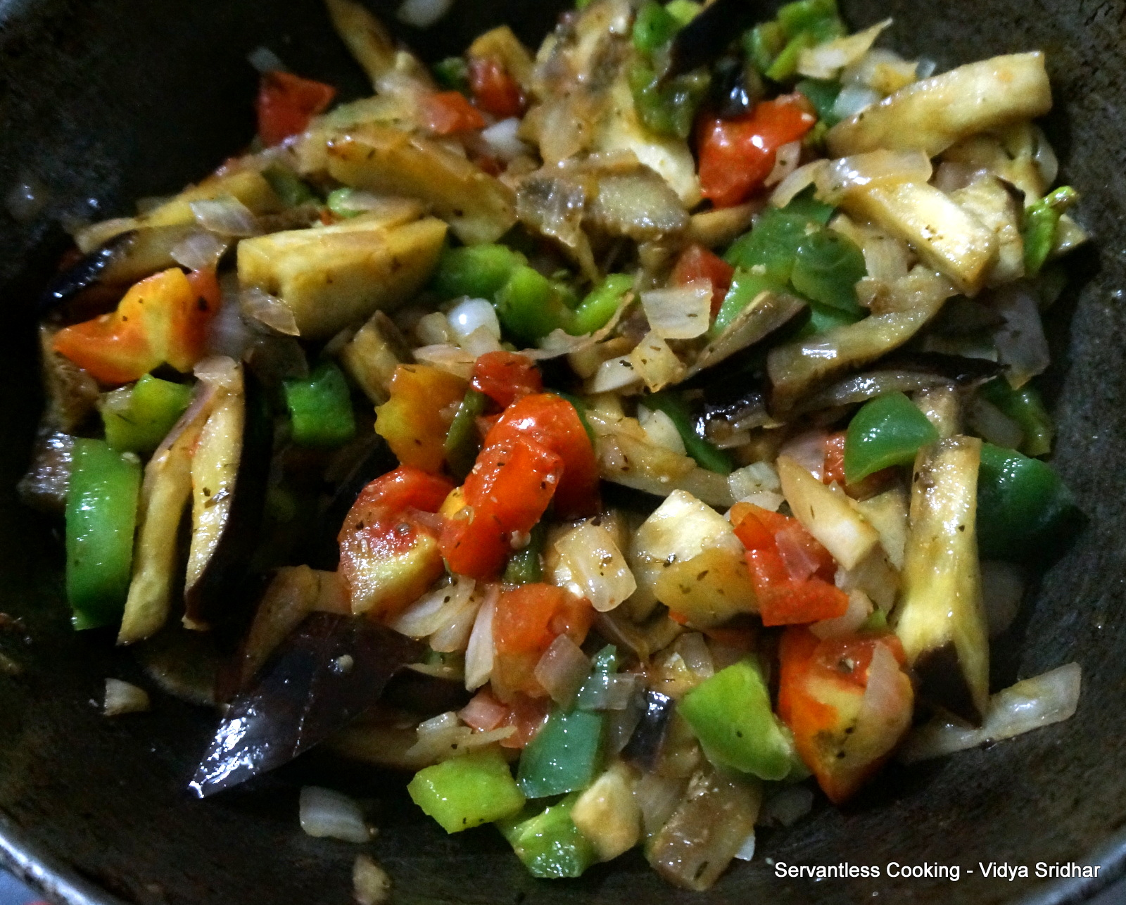 ... cooking : Baked Vegetable and Olive Frittata (Baked egg dish