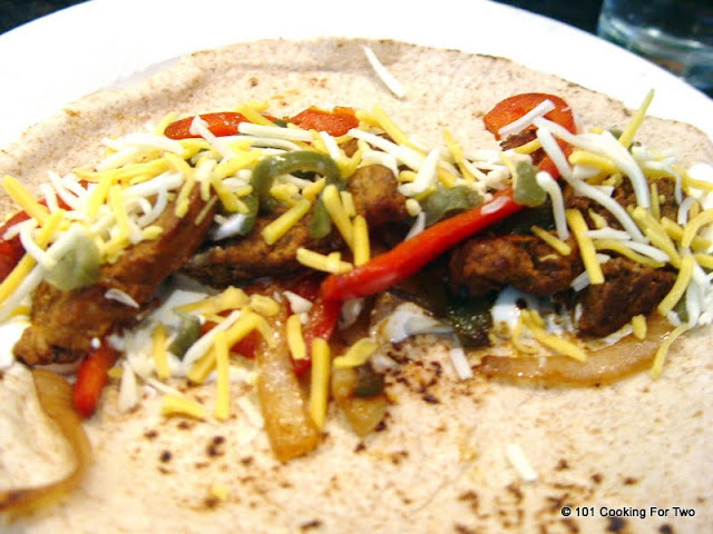Grilled Pork Tenderloin Fajitas from 101 Cooking For Two