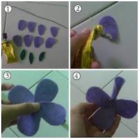 bunga Cara Membuat Bros Jilbab Bunga Dari Kain Flanel