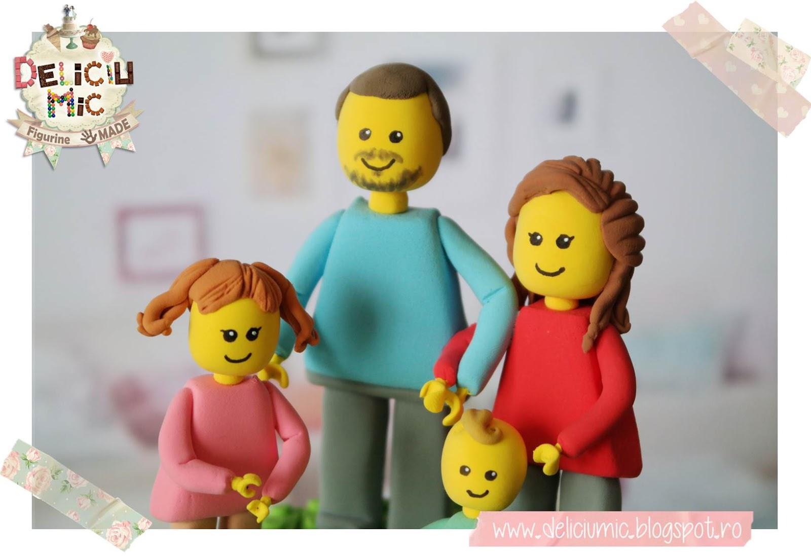 """Figurine de tort LEGO """"Familie de lego"""""""