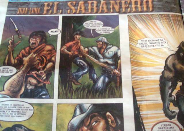el sabanero, la teja, comic costarricense, oscar arguedas,