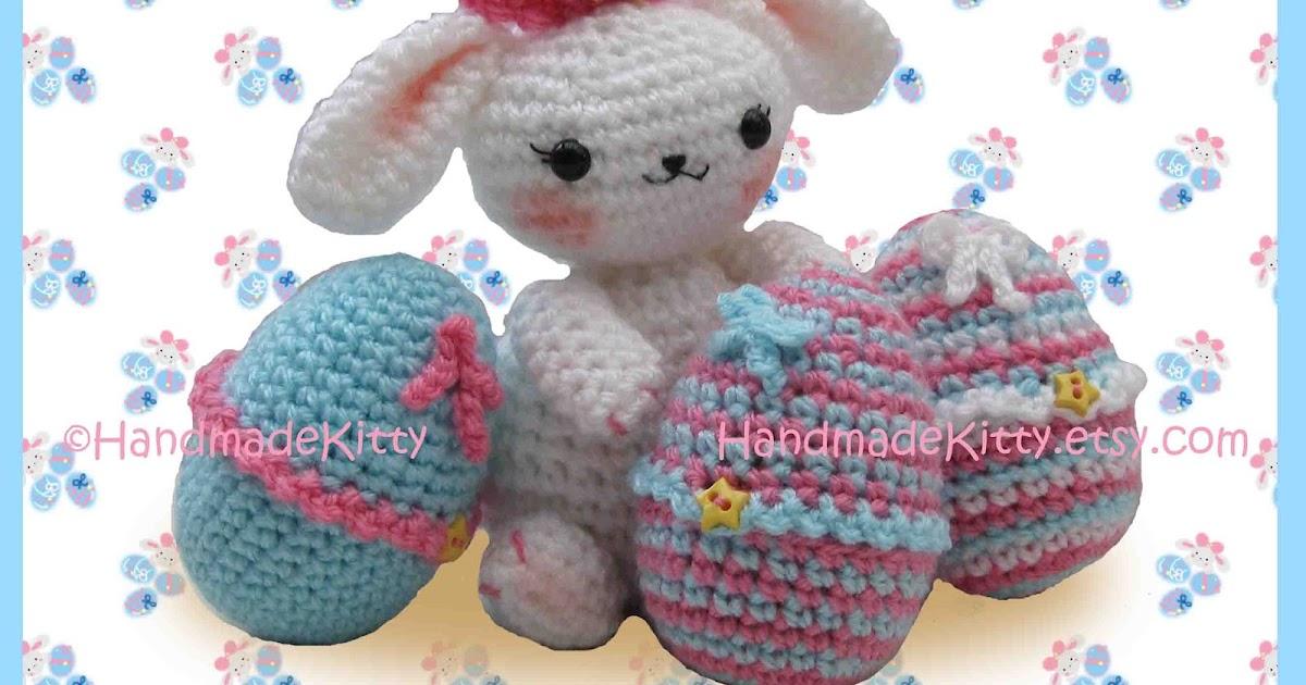 Onigiri Couple Amigurumi Free Crochet Pattern : HandmadeKitty: Easter Bunny with Cute Egg Cozy Cases ...