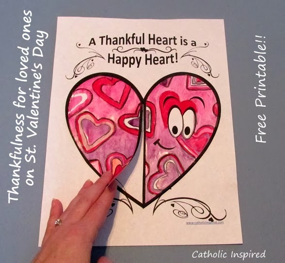 St. Valentine\'s Day Thankful Project - Catholic Inspired