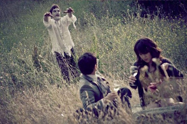 Fotos de boda coreana con zombies