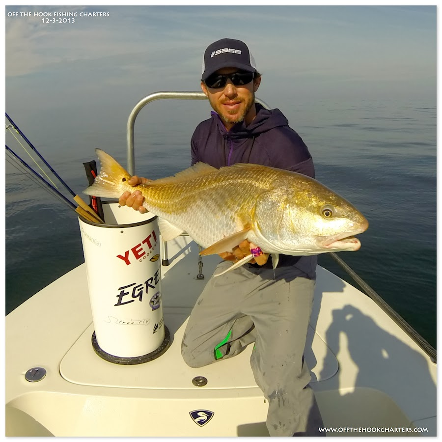 Deep dropping for big bull redfish on the fly with my for Hilton head island fishing