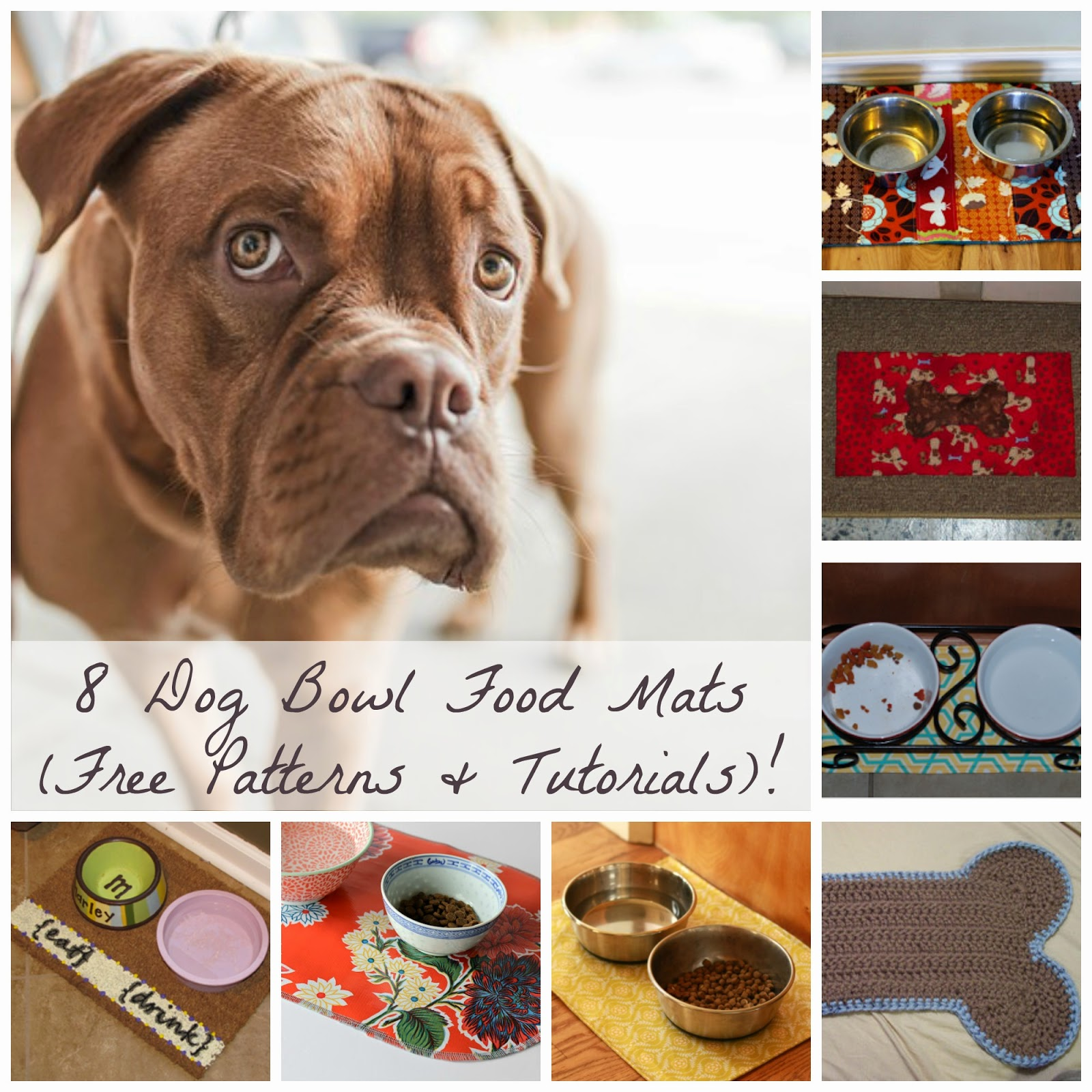 Dog Food Bowl Mats {Free Patterns & Tutorials!} | Becky Cooks Lightly
