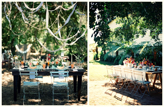 outdoor wedding banquet